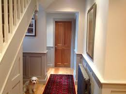 Paint Colours For Hallways And Stairs by Wall Colour Skimming Stone Panel Colour Dove Tale And Staircase