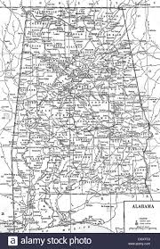 Map Alabama Old Map Of Alabama State 1930 U0027s Stock Photo Royalty Free Image