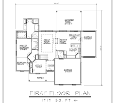 Shouse House Plans by Basement Ranch House Plans Stovall Park Brick Ranch Home