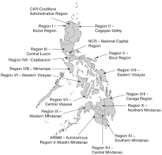 Map Of Phillipines Map Of The Philippines Showing The Administrative 17 Regions 19