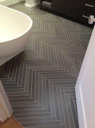 Bathroom Slate Tile Ideas by Amazing Herringbone Slate Tile Treatment In Bath Home U0026 Garden