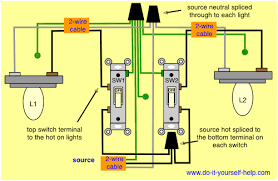 wiring diagram double light switch 2 pole switch wiring diagram