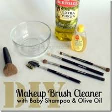 diy make up brush cleaner with baby shoo olive oil by trishsutton cleaning makeup brushes with