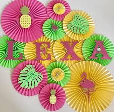 Paper Pineapple Decorations Pineapple Themed Backdrop Tropical Party Luau Party And Ideas Party