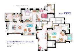 Foursquare Floor Plans by Artist Illustrates Floorplans Of Famous Tv Show Apartments