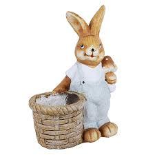 animal planters wonderland rabbit planter planters pot animal statue garden