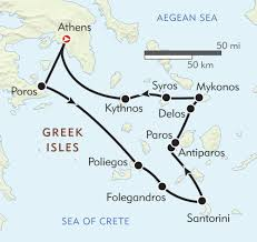 Map Of Santorini Greece by Jewels Of The Cyclades Itinerary U0026 Map Wilderness Travel