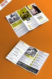 professional trifold brochure psd template psdfreebies com