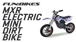 motocross bike makes riding the funbikes mxr 61cm electric kids mini dirt bike youtube