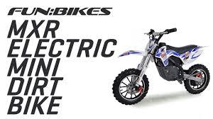 motocross bike parts riding the funbikes mxr 61cm electric kids mini dirt bike youtube