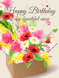 birthday flowers for birthday flower cards for niece birthday greeting cards by