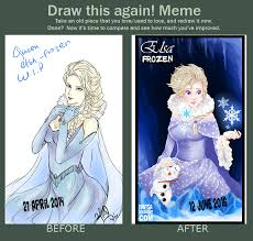 Frozen Memes - elsa frozen meme draw this again by yantsa on deviantart
