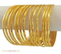 gold bangle bracelet sets images 22k plain gold bangles set 14 pcs bling bling pinterest jpg