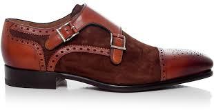 light brown monk strap shoes lyst magnanni shoes double monk strap shoes in brown for men