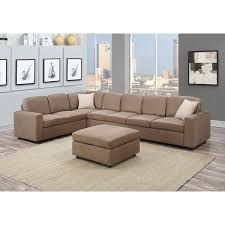 Reversible Sectional Sofa Dannis Saddle Microfiber Reversible Sectional Sofa Free Shipping