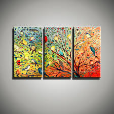 muya beautiful love birds painting wall mural colorful painting muya beautiful love birds painting wall mural colorful painting modern art 3 panels oil canvas paintings for living room wall in painting calligraphy from