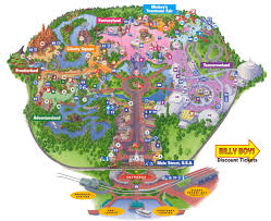 magic kingdom disney map orlando florida area maps