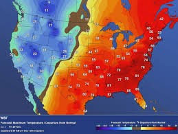 Temperature Map Usa by Weather Maps Illustrate The Strangest Christmas Weather In History