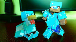how to make a minecraft papercraft bendable chicken with diamond
