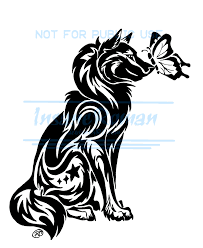 wolf and butterfly tattoo wip by insaneroman deviantart com on