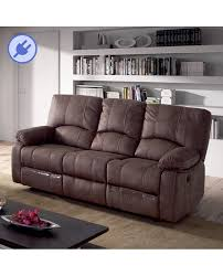 canapé relaxation 3 places confort canapé 3 places relaxation électrique tissu marron