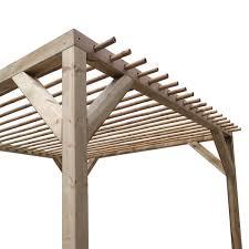 pergola with bamboo joists