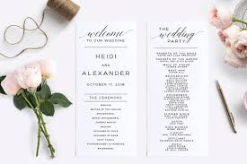 wedding program editable pdf wedding program stationery templates creative