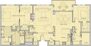 Den Floor Plan Two Bedroom Two Bath And Den E 1 Judson Retirement Living