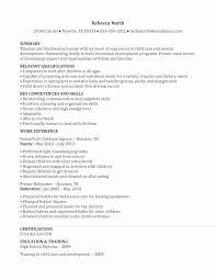 resume nanny experience examples sidemcicek com