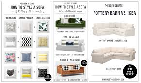 one room challenge week 2 how to style a sofa pillow combos