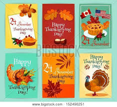 Significance Of Thanksgiving Day In America Thanksgiving Day Greeting Cards Vector Photo Bigstock