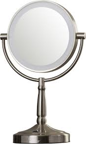 Cordless Lighted Makeup Mirror Cordless Dual Sided Led Lighted Vanity Mirror U0026 Reviews Allmodern