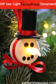 tea light snowman ornament paging mums