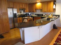Black Rustic Kitchen Cabinets Wooden Kitchen Countertop Finishes White Tile Ceramic Flooring