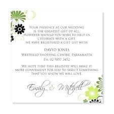 gift registry for weddings wording for gift registry on wedding invitations archives maitlive