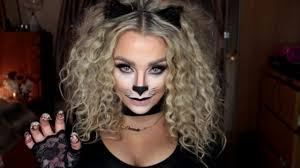 cat halloween make up tutorial youtube