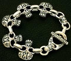 bracelet skull silver images Bracelets by tony creed jpg