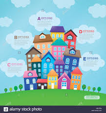 modern house vector abstract infographic elements design stock