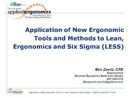 application of new ergonomic tools to lean ergonomics u0026 six sigma