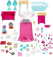 barbie dreamhouse playset 70 accessory pieces walmart