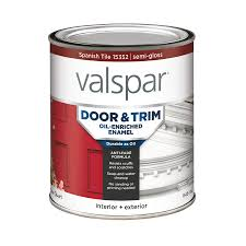 shop valspar door and trim spanish tile semi gloss oil based