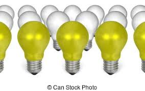 white light bulbs not yellow yellow light bulbs with weird reflections isolated on white
