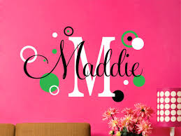 Wall Name Decals For Nursery Wall Arts Vinyl Wall Name Decals Baby Nursery Personalized Wall