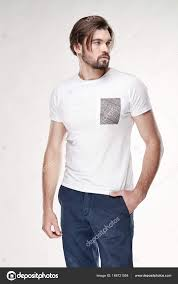 dark hair with grey models attractive young sexy man model with beard and dark hair posing in