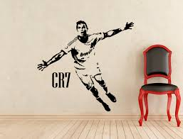 football wall decals etsy cristiano ronaldo wall vinyl decal biggest real size