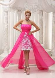 graduation dresses for 5th grade pink high low ruched 5th grade graduation dresses with lace
