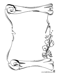 scroll coloring page funycoloring