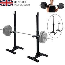Weight Bench Heavy Duty 2pcs Heavy Duty Adjust Gym Squat Barbell Power Rack Press Weight