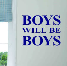 boys will be boys wall sticker by leonora hammond boys will be boys wall sticker
