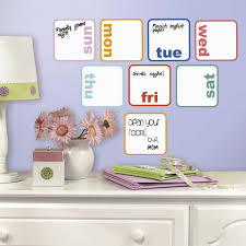 Restickable Wallpaper by Roommates Rmk3043scs Days Of The Week Planner Dry Erase Peel And